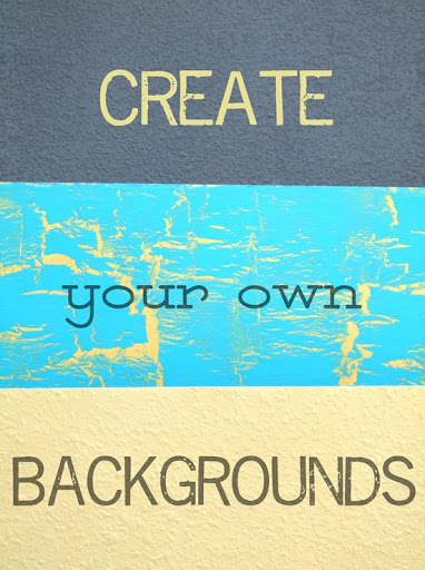 Create Your Own Backgrounds for Your Pics
