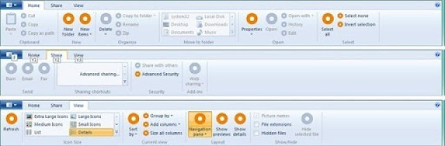 Windows 8 has Ribbon UI in Windows Explorer;Images leaked