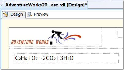 Textbox with chemical equation
