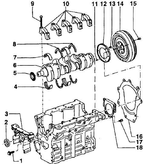vw bug Motor diagram
