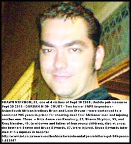 Strydom Shawn Afrikaner Victim Of Racist Massacre Umbilo Park KZN Sept