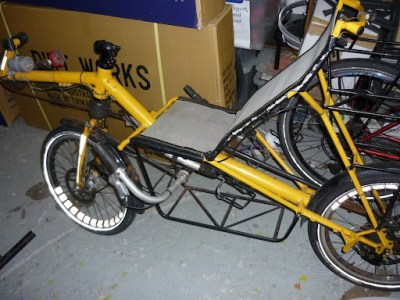 Evan's Kotzur recumbent. which gets ridden a lot, and is in need of a lot of love