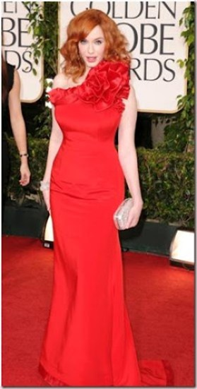 Christina Hendricks-Golden Globes-2