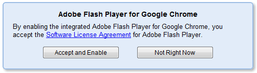 Google Chrome mit Flash