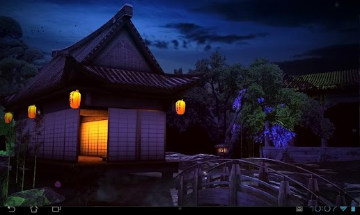 3d Moving Wallpapers City Lights Real Zen Garden 3d Night Lwp Android Apps On Google Play