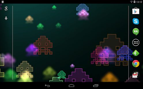 3d Parallax Weather Live Wallpaper For Android Os Space Invaders Live Wallpaper Android Apps On Google Play