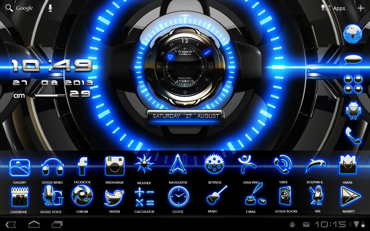 Go Launcher 3d Wallpaper Download The 3d Glow Magic Go Theme Android Apps On