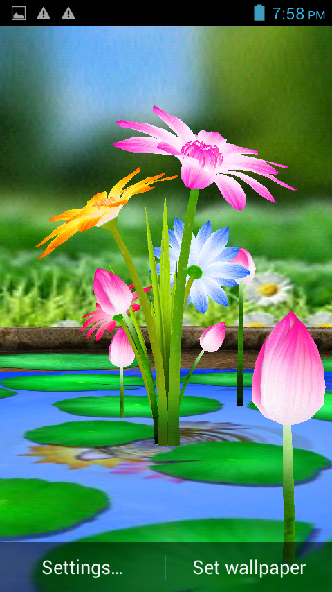 Rohit Name 3d Wallpaper 3d Flowers Touch Wallpaper Android Apps On Google Play