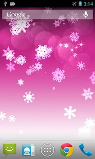 Christmas Falling Snow Wallpaper Note 3 Snowflake Live Wallpaper Android Apps On Google Play