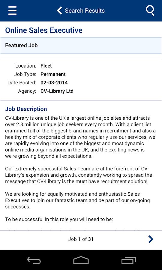 library job resume description