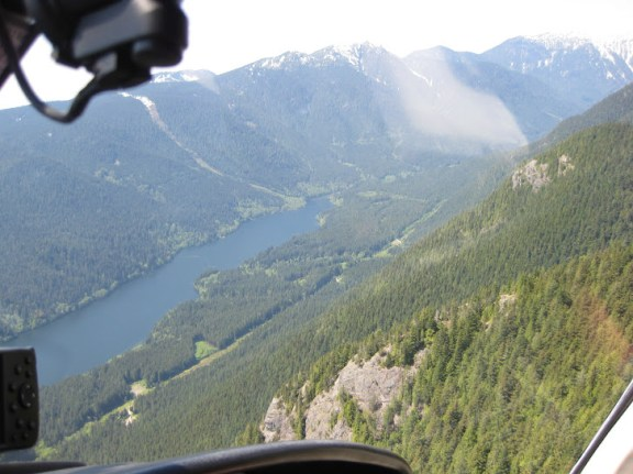 Views from the helicopter around Grouse Mountain