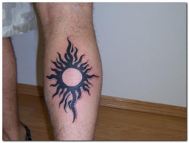 sun tribal tattoo designs