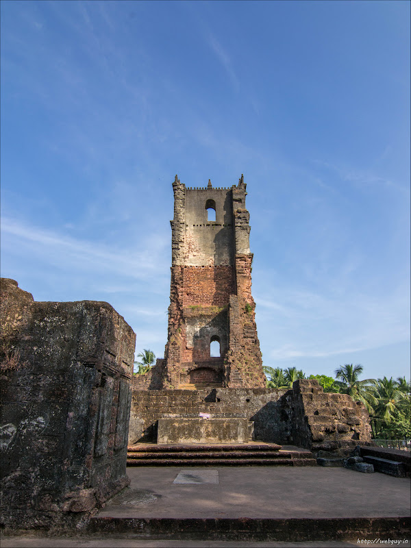 The Belfry from inside - St Augustine Church, Old Goa