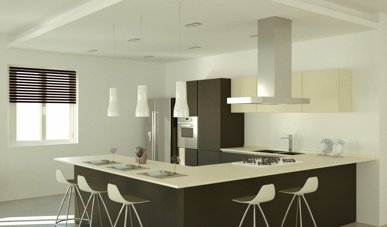 Cucina Angolare Progetto | Awesome Progetto Cucina 3d Photos House ...