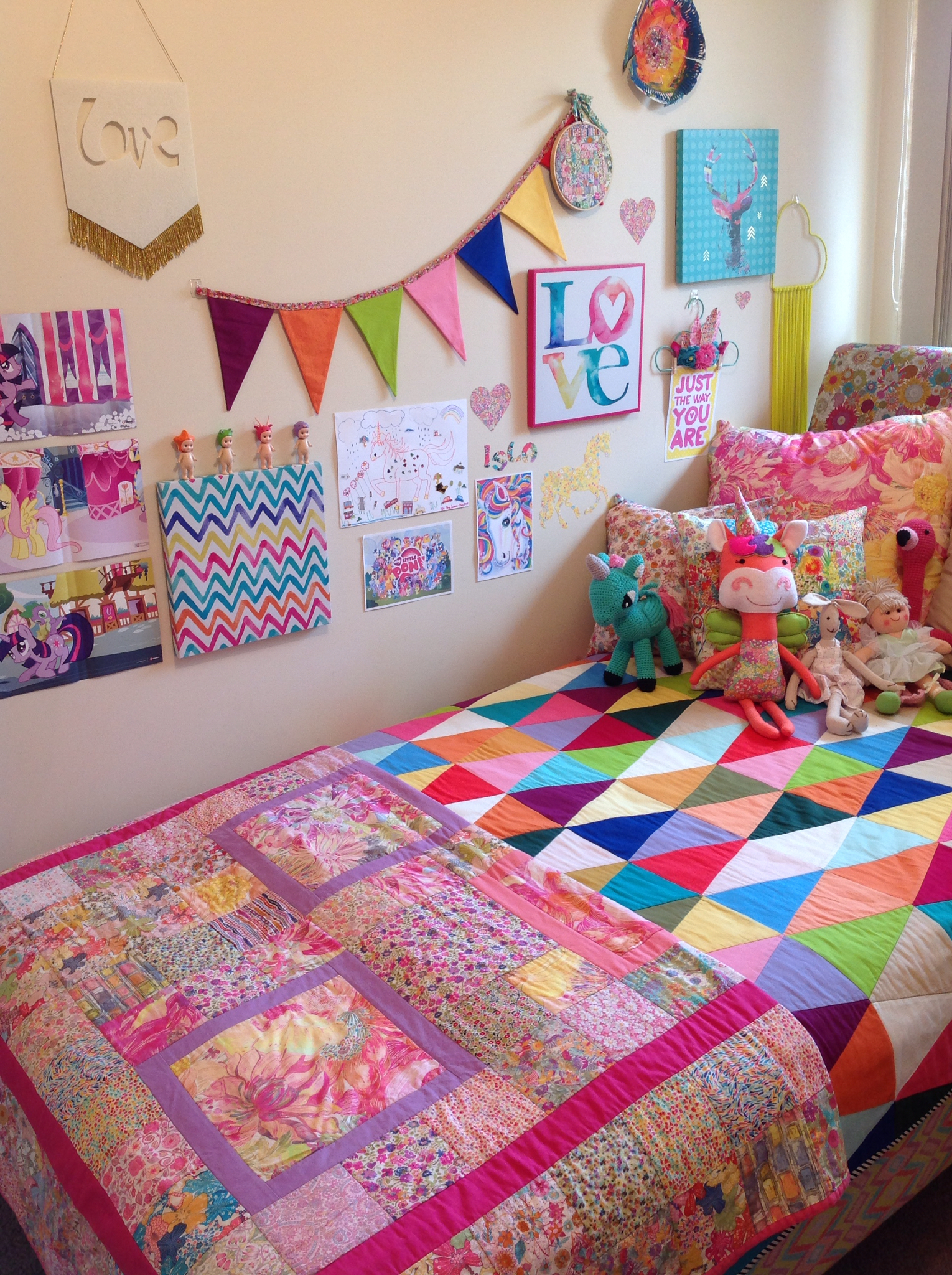 Rainbow Bedroom Ideas Rhapsody And Thread Liberty Unicorns And Rainbow Make