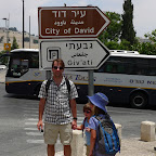 Obligatory picture of David in front of 'City of David' sign.  Clever, right?
