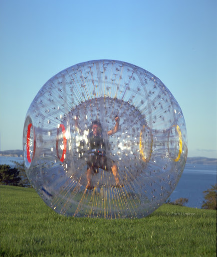 The Zorbit - where riders are in a harness. The dry way to zorb.