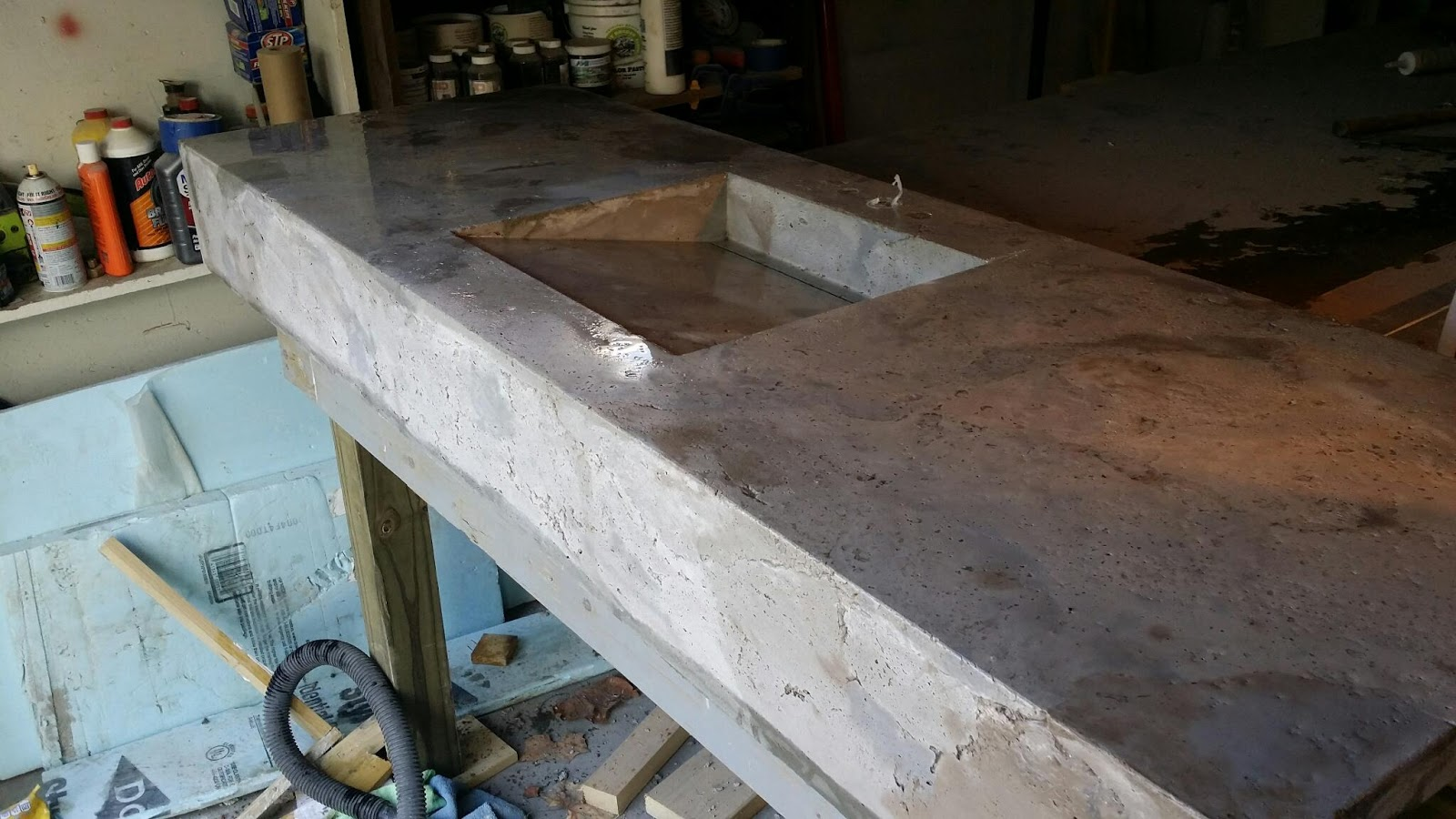 Concrete Countertop Contractors Rocksolid Custom Concrete St Louis Concrete Countertops