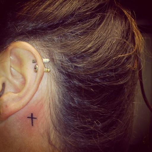 cross tattoo for women