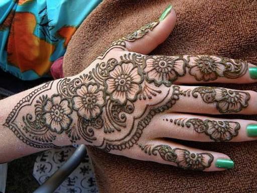 simple arabic mehandi designs