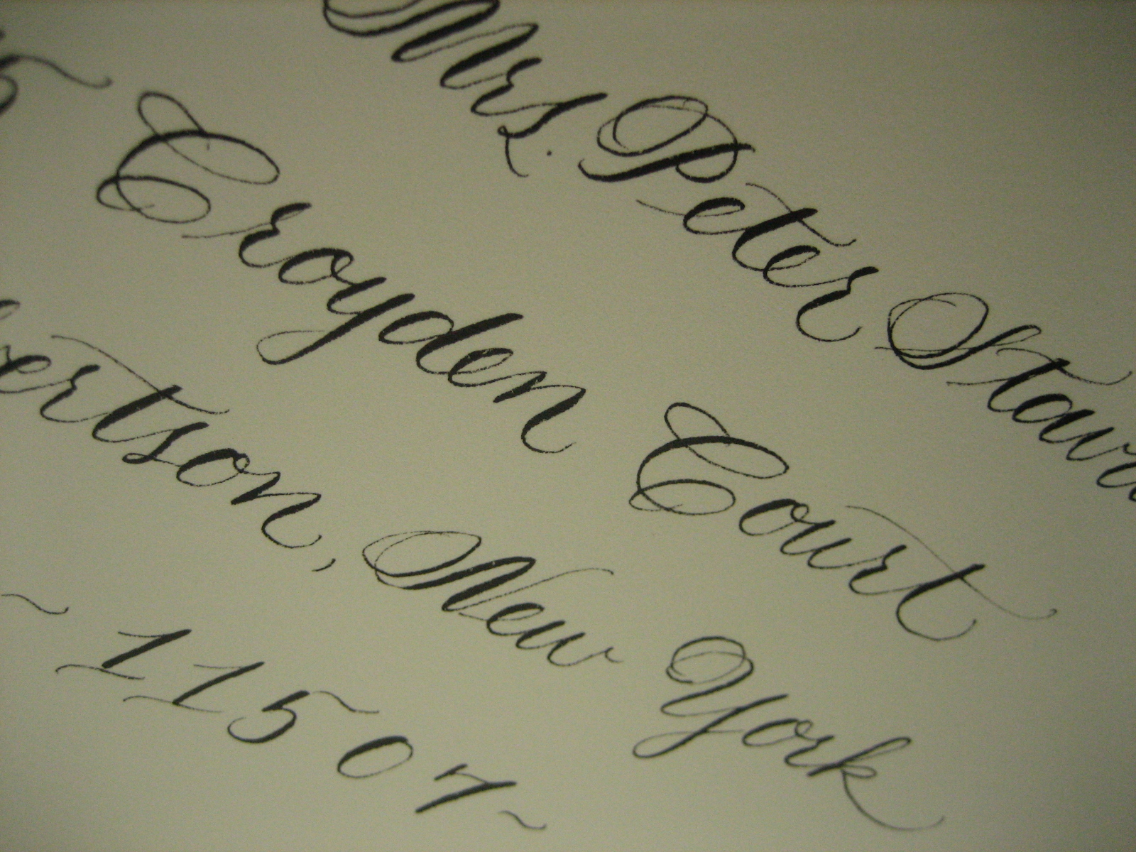 Calligraphy Online Store Navy Bean Calligraphy Projects