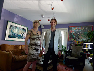 David and Trish in our playroom before going out.