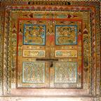 Chapel door, Muqing Gompa, near Niku Xiang, Seda county, Sichuan.