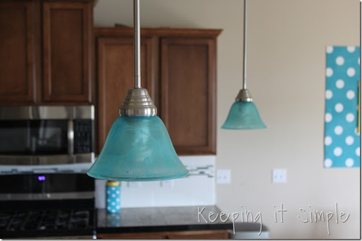 Keeping it Simple: Turquoise Blue Pendant Lights: How to