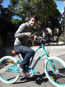 Andrew - dutiful boyfriend - giving the gift of bike!