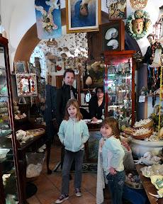 The shell shop where we bought a stuffed shark.