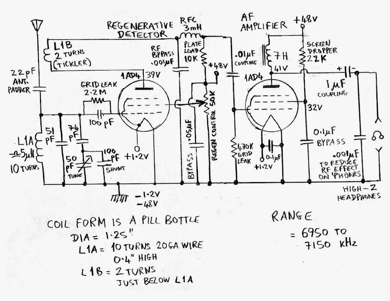homebrew regenerative radio schematic 35k