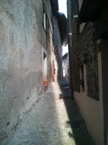 Typical narrow street in La Brigue
