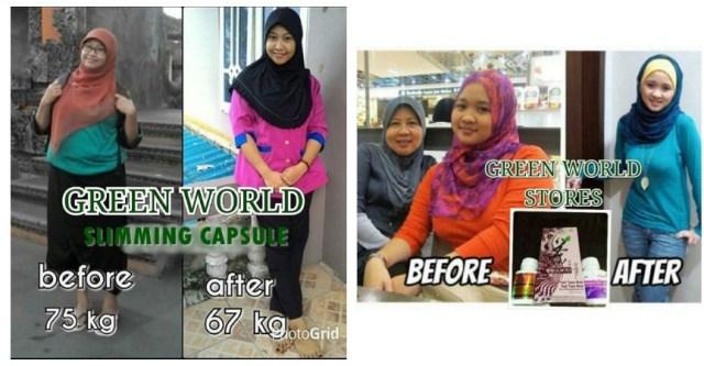 Obat Pelangsing Green World Slimming Capsule