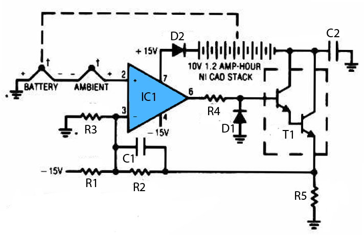 nicad battery charger uses schematic