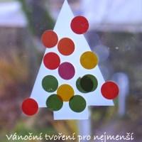 Vánoční stromeček - vánoční tvoření pro nejmenší děti