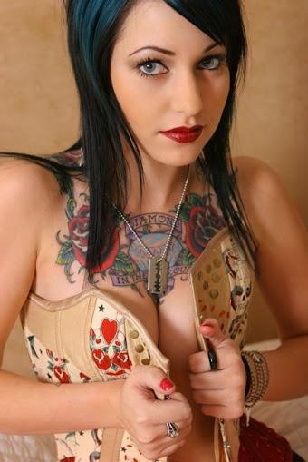 tattoos on women chest