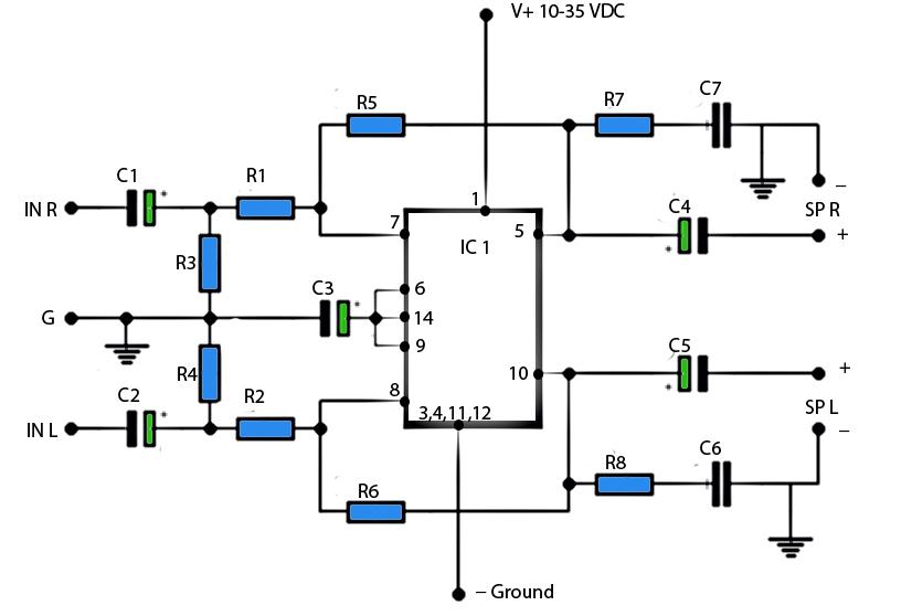 lm379 dual 6 watt amplifier
