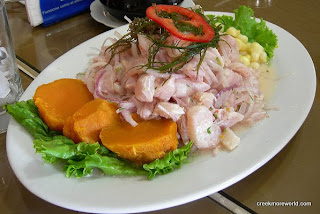 Typical peruvian ceviche