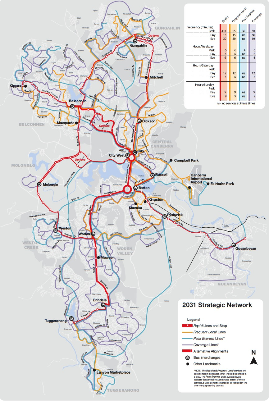 Map Of Canberra Act Light Rail Routes For Light Rail