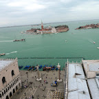 Venice Harbor from the San Marco Square tower.