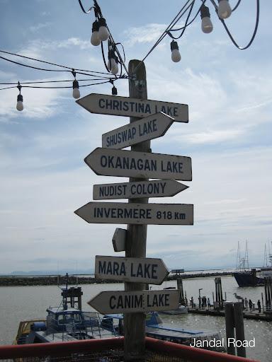 Signpost in Steveston, Richmond, BC