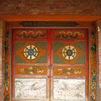 Chapel door, Xiadawu Xiang, Qinghai.