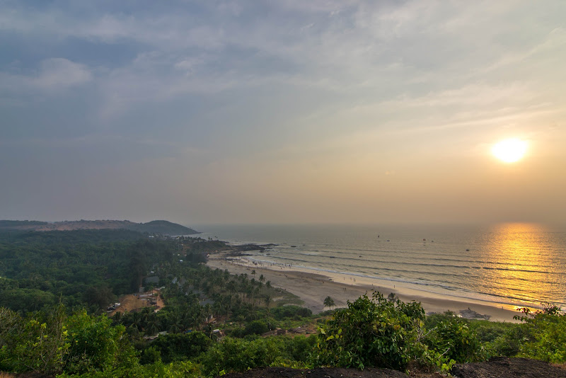 Sunset at Vagator beach as seen from Chapora Fort, Goa