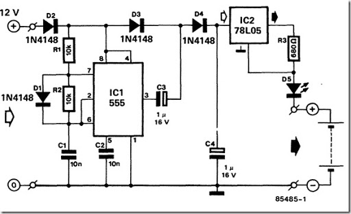12 volt nicad battery charger schematic diagram