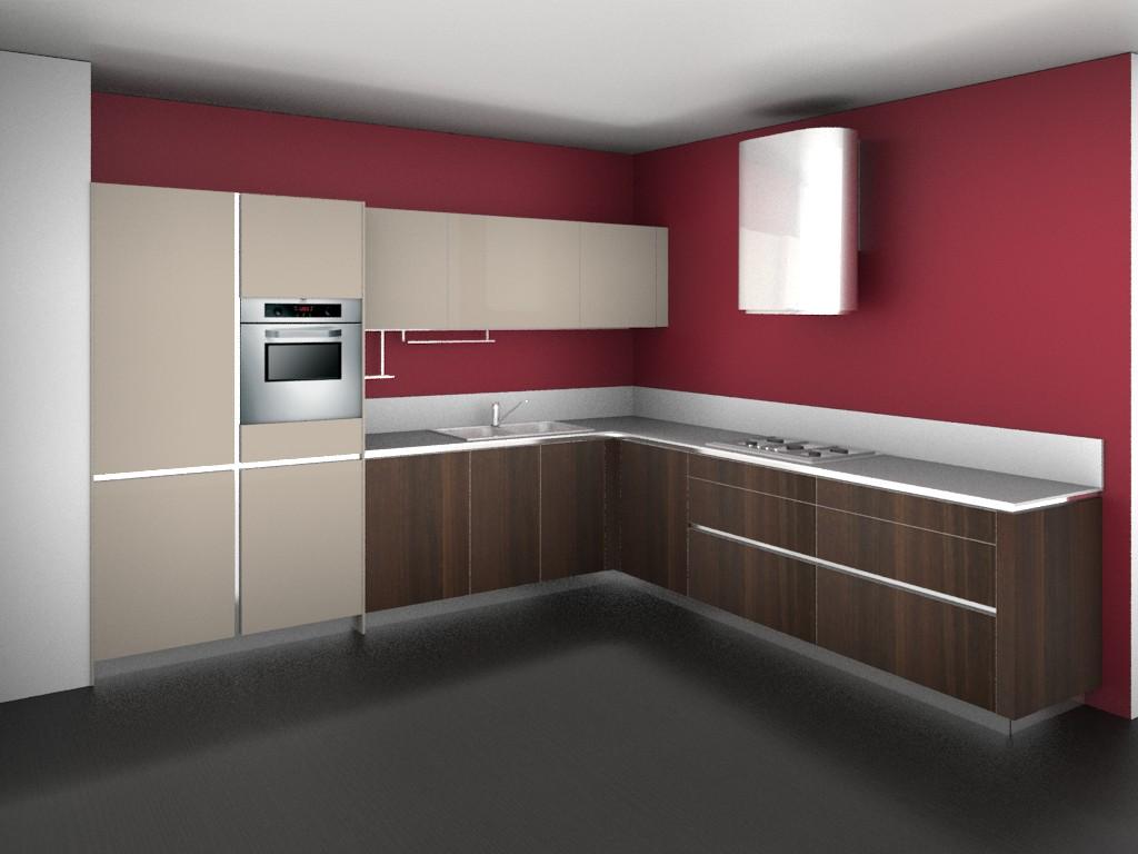Cucina 3d   Rendering Fotorealistici Interni Maxrender