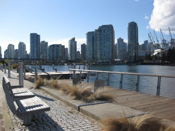 One of the great things to do in Vancouver: False Creek cityscape in Vancouver