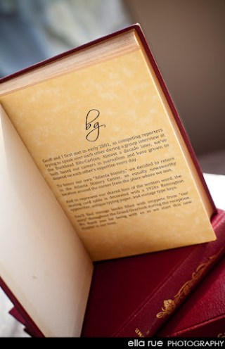 Custom Vintage Wedding Books