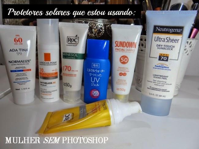 7 protetores solares para o rosto