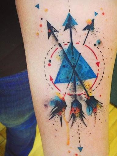watercolor Arrow tattoos