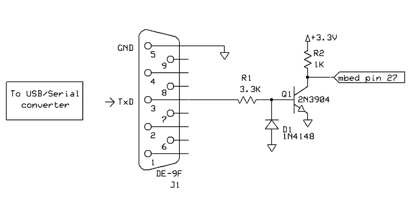 ttl rs232 level converter using max232 ic